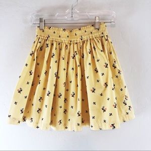 Hanna Andersson Skirt Floral Yellow Girls Size 10